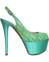 Ernesto Esposito 145mm Shiny Calfskin Sandals - Green