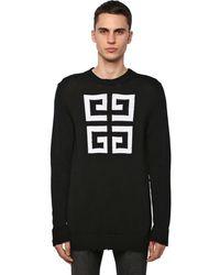 Givenchy Strickpullover Aus Baumwolle Mit 4g-logo - Schwarz
