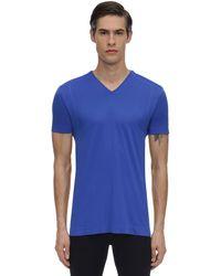 Falke テクニカルtシャツ - ブルー