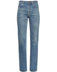 Saint Laurent Jeans '90s Con Cintura Alta - Azul