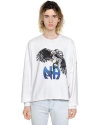 """Enfants Riches Deprimes Sweatshirt En Coton Délavé Stone """"n.a"""" - Blanc"""