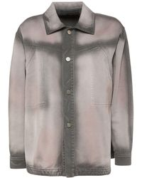 Alberta Ferretti Рубашка Из Денима - Серый