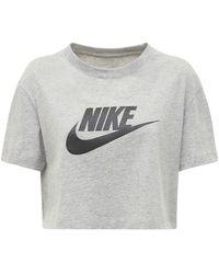 Nike コットンクロップtシャツ - グレー