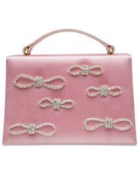 Mach & Mach Kleine Handtasche Aus Satin - Pink