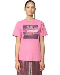 Paco Rabanne コットンジャージーtシャツ - ピンク