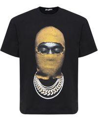 ih nom uh nit T-shirt Relaxed En Coton Imprimé Masque - Noir