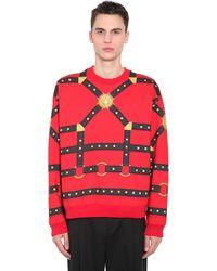 Versace コットンジャージー スウェットシャツ - レッド
