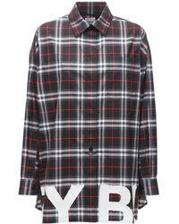 Burberry Brigitte コットンポプリンシャツ - ブラック
