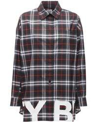 Burberry - Рубашка Из Хлопка В Клетку - Lyst