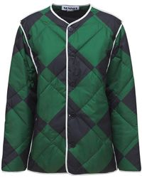 Sunnei Quilted Nylon Jacket - Green
