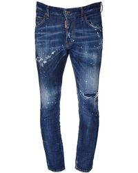 DSquared² 16.5cm Skater Stretch Jeans - Blue