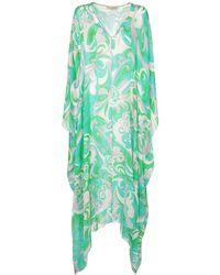 Emilio Pucci Платье Из Шелкового Шифона - Зеленый
