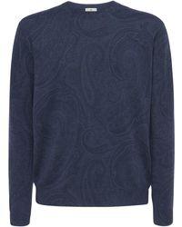 Etro Strickpullover Aus Wolle - Blau