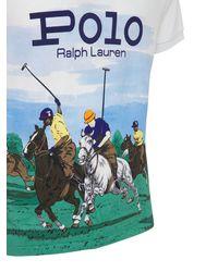 Polo Ralph Lauren - Bedrucktes Poloshirt Aus Baumwolle Mit Druck - Lyst