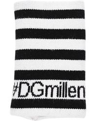 Dolce & Gabbana Dgmillenials ジャガードウールリストバンド - ブラック