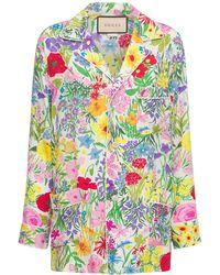 Gucci Пижамная Рубашка Из Жаккарда - Многоцветный