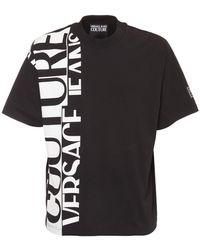 Versace Jeans Couture Футболка Из Хлопкового Джерси - Черный
