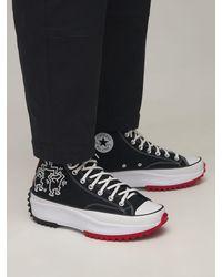 "Converse Sneakers ""keith Haring Run Star Hike"" - Schwarz"