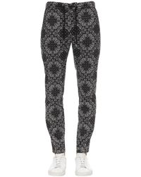 Department 5 Paisley Print Poplin Trousers - Black
