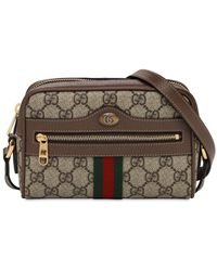 Gucci Ophidia Gg Supreme Camera Bag - Brown