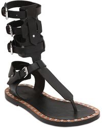 Isabel Marant - Jeepy Leather Gladiator Sandals - Lyst