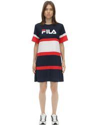 Fila Logo Nylon T-shirt Dress - Blue