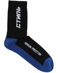 Heron Preston Ctnmb Long Cotton Socks - Schwarz