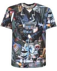 Comme des Garçons T-shirt Aus Jersey Mit Druck - Blau