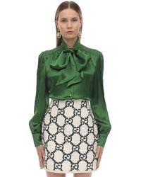 Gucci Silk & Viscose Shirt - Green