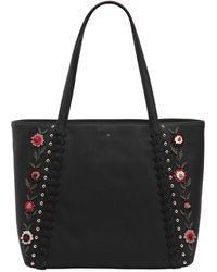 Kate Spade - Cherie Floral Appliqués Leather Tote Bag - Lyst