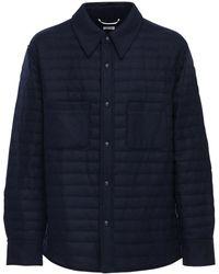 Thom Browne ウールダウンシャツジャケット - ブルー