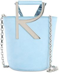 Roger Vivier Rv Suede Bucket Bag - Blue