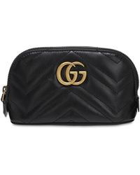 Gucci - Small Gg Marmont Leather Beauty Bag - Lyst
