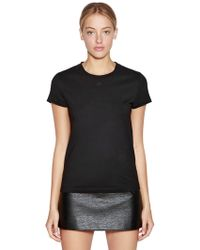 Courreges - Logo Printed Cotton Jersey T-shirt - Lyst
