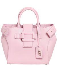 Roger Vivier Small Pilgrim De Jour Leather Bag - Pink