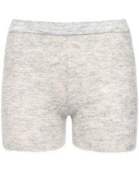 Jacquemus Knit Mohair Blend Shorts - White