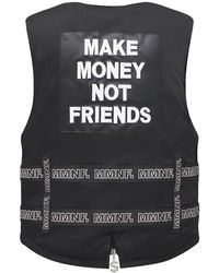 MAKE MONEY NOT FRIENDS ベルトベスト - ブラック