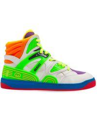 Gucci 25mm Hohe Basketballsneakers - Grün