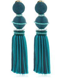 Oscar de la Renta Orecchini Clip-on Bicolor - Blu