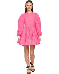 Valentino Короткое Платье Из Тафеты - Розовый
