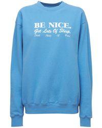 Sporty & Rich Be Nice スウェットシャツ - ブルー