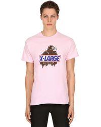 X-Large Camiseta De Jersey De Algodón Estampado Hungry Og - Rosa