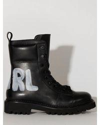 "Karl Lagerfeld Кожаные Ботинки ""kadet Ii Hiker Hi"" - Черный"