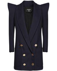 Balmain ウールツイルジャケット - ブルー