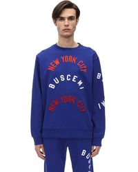 Buscemi コットンツイルスウェットシャツ - ブルー
