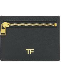 Tom Ford Tf レザーカードホルダー - ブラック