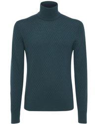 Dolce & Gabbana Rollkragensweater Aus Kaschmir Und Seide - Grün