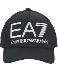 EA7 Casquette Avec Logo Réfléchissant - Noir
