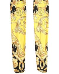 Versace Носки С Принтом - Желтый