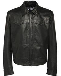 Versace Jeans Couture レザージャケット - ブラック